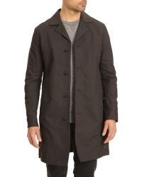 G-star Raw Faded Black Trench Troupman - Lyst