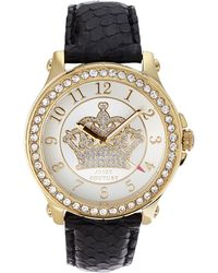 Juicy Couture 1901203 Gold-Tone & Black Watch - Lyst