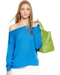 Ralph Lauren Black Label Cashmere-silk Boatneck Sweater - Lyst