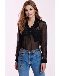 Chanel | Vintage Mirabelle Silk Blouse | Lyst