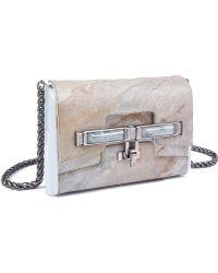 Kara Ross Lux Mini Box Clutch In Antartide Marble - Lyst