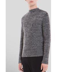 Sandro White Noise Mock Turtleneck Sweater - Lyst