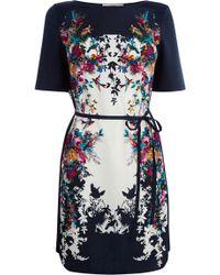 Oasis Bloom Bird Placement T Shirt Dress - Lyst