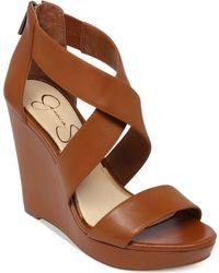 Jessica Simpson Jinxxi Platform Wedge Sandals - Lyst