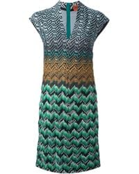 Missoni Zig Zag Crochet Knit Dress - Lyst