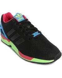 Adidas Zx Flux Black/Green Sneakers black - Lyst