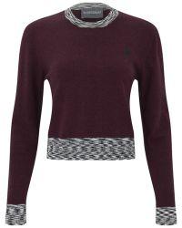 Antipodium   Women'S Pedigree Crop Knit Pullover   Lyst