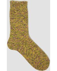 Mauna Kea - Three Colour Melange Sock Green - Lyst