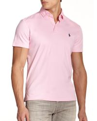 Polo Ralph Lauren Pima Soft-Touch Polo pink - Lyst