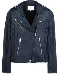 Iro Tara Navy Leather Jacket - Lyst