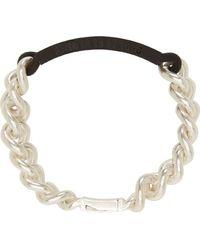 Maison Martin Margiela Silver and Rubber Id Bracelet - Lyst