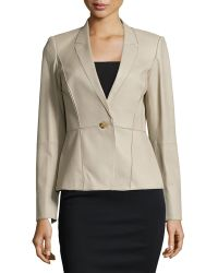 Lafayette 148 New York Patchwork Leather One-Button Jacket - Lyst