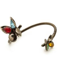 Rodarte Butterfly Bracelet with Swarovski Crystals  Blacksilver - Lyst