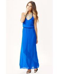 Rory Beca Ellie Deep V Neck Silk Gown - Lyst