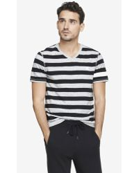 Express Nep Knit Rugby Stripe Small Lion Tee - Lyst