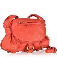 Jérôme Dreyfuss Twee Mini Red Calfskin Shoulder Bag - Lyst