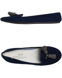 Charles Philip Moccasins blue - Lyst
