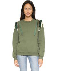 Koza - Fringe Sweatshirt - Fringe Olive - Lyst