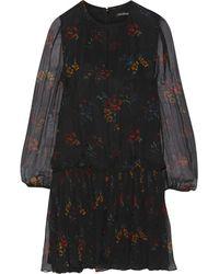 Jill Stuart Jayne Crinkled Floral-Print Silk Mini Dress - Lyst