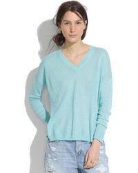 Madewell Longview V-Neck Sweater - Lyst