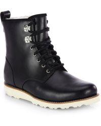 Ugg Hannen Leather Lace-up Boot - Lyst