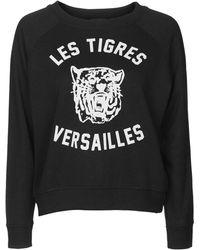 Topshop | Petite Versaille Brushed Sweatshirt | Lyst