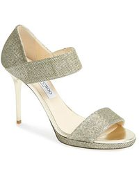 Jimmy Choo 'Alana' Metallic Platform Sandal - Lyst