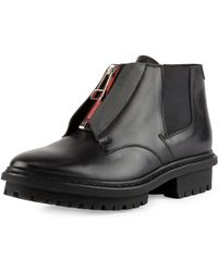 Balenciaga Zipfront Leather Ranger Boot - Lyst