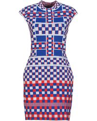 Alexander McQueen Multicolor Short Dress - Lyst
