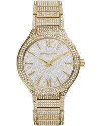 Michael Kors Womens Kerry Pavé Gold-tone Stainless Steel Bracelet Watch 38mm - Lyst