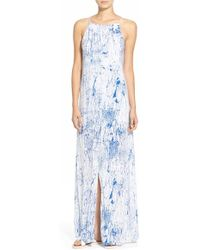 Betro Simone - Print Slit Front Maxi Dress - Lyst