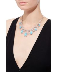 Gioia - Turquoise And Diamonds Necklace - Lyst