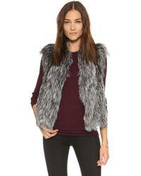 June - Fox Fur Vest - Lyst