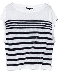 Rag & Bone Christa Striped Crop Top - Lyst