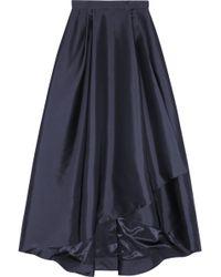 Alberta Ferretti Pleated Wrapeffect Taffeta Maxi Skirt - Lyst