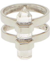 Rebecca Taylor - Krystle Knight Double Ring - Lyst