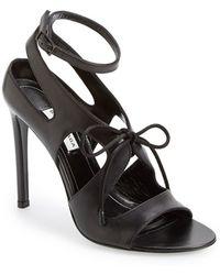 Balenciaga Cutout Sandal black - Lyst