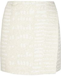 Proenza Schouler Cotton-Blend Bouclé Wrap Mini Skirt - Lyst