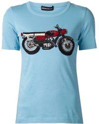 Sonia Rykiel Embellished Motorcycle T-Shirt - Lyst