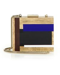 Tory Burch Color Cube Wooden Clutch - Lyst