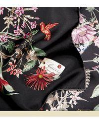 Gucci Flower Print Silk Foulard - Lyst