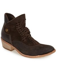 H by Hudson 'Peak' Leather Ankle Boot - Lyst