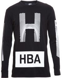 Hood By Air Thumb Print Cotton Long Sleeve Tshirt - Lyst