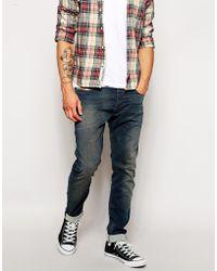 Diesel Jeans Tepphar Skinny Fit 607Y Dark Dirty Wash - Lyst
