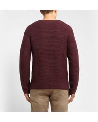 Hentsch Man - Ribbed Wool-Blend Sweater - Lyst