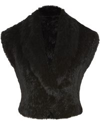Matthew Williamson Rabbit Fur Shrug - Lyst