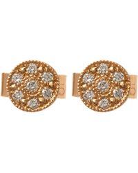 Brooke Gregson - Yellow Gold Mini Mars Diamond Stud Earrings - Lyst