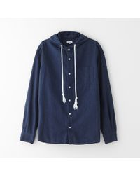 Steven Alan Detachable Hooded Shirt - Lyst