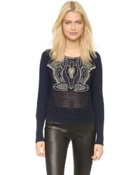 Sass & Bide - Eternal Loom Sweatshirt - Ink - Lyst