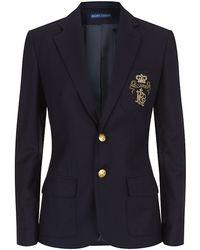 Ralph Lauren Blue Label - Polo Crest Blazer - Lyst